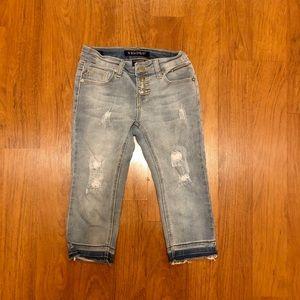 Girls Vigoss Capri Stretch Ripped Jeans